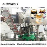 Máquina tampando da torção do atolamento do suco de fruta