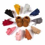 Подошва повязки Tassels шпаргалки младенца мягкая обувает ботинки тапок малыша вскользь