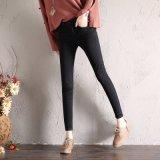 Alta qualità e jeans scarni con il piedino diritto per la signora (HDLJ0029-17)