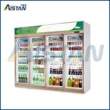 Refroidisseur commercial quatre-portes de bouteille d'étalage d'étalage du réfrigérateur Mlg-2400