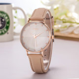 Dame Watch Leather Strap Uxury Horloge (wy-113A)