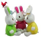 Venda por atacado enchida do coelho de Easter do luxuoso do brinquedo do festival artigos feitos sob encomenda