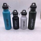 de Vrije Fles van het Water van de Sport van de Muur van het Roestvrij staal 350ml BPA Enige met het Volledige Deksel van het Roestvrij staal (sh-ST04)