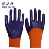 polyester 13G 3/4 gant enduit de sûreté de nitriles avec du ce