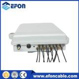 Caixa de distribuição plástica da fibra óptica de Watrerproof do núcleo de Fdb 12