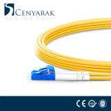 Cuerda de corrección óptica a dos caras unimodal de fibra de LC-LC