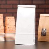 Мешки кофеего дна блока стоящего бортового уплотнения квада Gusset плоские