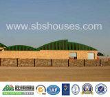 Industrielle Fertigspeicherung, die Stahlrahmen-Lager-Halle unterbringt