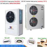 Save70%エネルギーCop4.23 R410A12kw、19kw、35kw、70kwの105kwアウトレット60eg。 Cのセントラル・ヒーティングおよび熱湯の多機能のヒートポンプのヒーター