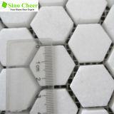 Плитка мозаики Thassos плитки мозаики шестиугольника белая мраморный