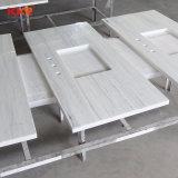صنع وفقا لطلب الزّبون صلبة سطحيّة بيضاء مطبخ [كونترتوب] مع بالوعة (180131)