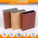 Profil en aluminium des graines en bois pour le guichet de glissement avec l'écran de mouche