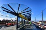 O vidro laminado para paragem de autocarro Shelter