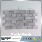 高品質の安い価格の大理石のモザイク、白い大理石の石造りのモザイク
