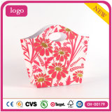Bolsas de papel revestidas del regalo de la flor del arte rojo de la manera