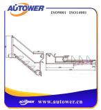 Escala portable plegable de acero del paso de progresión para la plataforma del carro del tanque del carril