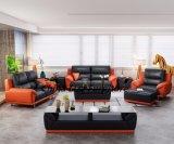 Софа кожи твердой древесины мебели комнаты Дубай живущий
