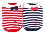 أحمر وزرقاء شريط قوّة بحريّة ليّنة دافئ محبوبة لباس كنزة