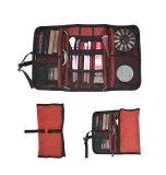 Le sac cosmétique de renivellement, substance maniable de beauté portent la valise, organisateur de mémoire de vitesse de course d'accessoires de l'électronique, poche faciale de nécessaire de Skincare d'épierreuse de femmes