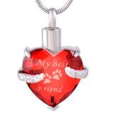 Mijn Hond Mijn Beste Juwelen van de Crematie van het Glas van het Af:drukken van de Poot van het Huisdier van de Vriend
