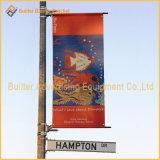 Alberino della via del metallo che fa pubblicità al fissatore della bandiera di promozione (BS05)