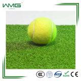 Grama artificial funcional usada para o relvado da falsificação da corte de tênis