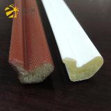 Белая прокладка уплотнения пены PU ви-образност губки плакирования PE для деревянной двери