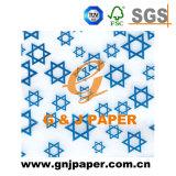Logotipo impresso personalizado papel tecido EMBALAGEM BRANCA