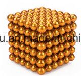 Esfera de magneto de neodímio esferas magnéticas com níquel, níquel preto, prateado, revestimento de ouro