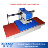 Machine d'impression pneumatique de transfert de presse de la chaleur de sublimation de T-shirt de stations de double