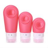 Sans BPA Squeezable réutilisables en silicone résistant lotions pour les voyages Les kits avec Sucker