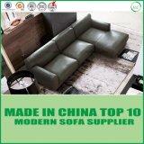Amerikanisches Art-Wohnzimmer-Feder-Leder-Ecken-Sofa