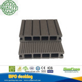 Placas compostas verdes por atacado decorativas do Decking da cavidade WPC do bloqueio/revestimento