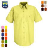 偶然の純粋なカラー品質の人のWorkwearのユニフォームのワイシャツ