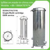 Cárter del filtro industrial del cartucho del agua del acero inoxidable