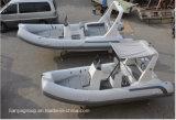 Canot gonflable inférieur dur de bateaux militaires faits sur commande de côte de Liya 17feet