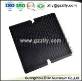 LED anodizado preto de fábrica o dissipador de calor em alumínio com a norma ISO9001