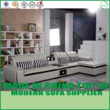 A sala de visitas de Dubai preside o sofá de canto de couro moderno
