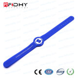 Wristband impermeabile registrabile del silicone RFID
