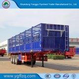 Fabriek 2/3 van Shandong de Semi Aanhangwagen van de Staak van de Nuttige lading van de As 40t voor Vervoer van het Vee van de Lading