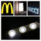 módulo de 3LEDs SMD5730 LED con la lente para hacer publicidad de la carta de la señalización/de canal/de la iluminación de la ensenada/de la iluminación de la salida de Emergercy