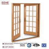 La entrada de doble vidrio aluminio Panel fabricante de puertas de entrada