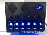 6 индикатор батареи автомобиля на лодке в стиле Carling кулисный переключатель панели 2 USB в разъем шнура питания вольтметра