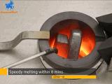 Большой 20 кг 30 кг 50 кг золота индукционного плавильного узла машины