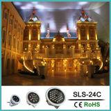 Luz de inundación de DC24V 46W LED con poner de relieve de la dimensión de una variable redonda LED