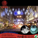 Iluminação do diodo emissor de luz através da luz do motivo da rua para a decoração ao ar livre