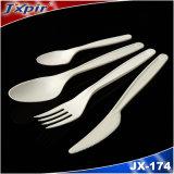 Couverts en plastique remplaçables bon marché faits sur commande colorés par ustensiles de vaisselle plate de PLA