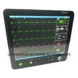 15-дюймовый шести параметров монитора пациента с помощью модуля ETCO2