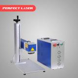 20W 30W 50W 귀 꼬리표 플라스틱을%s 휴대용 소형 섬유 Laser 표하기 기계