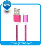 Buntes Nylon-umsponnenes Mikro USB-Kabel für Android/iPhone
